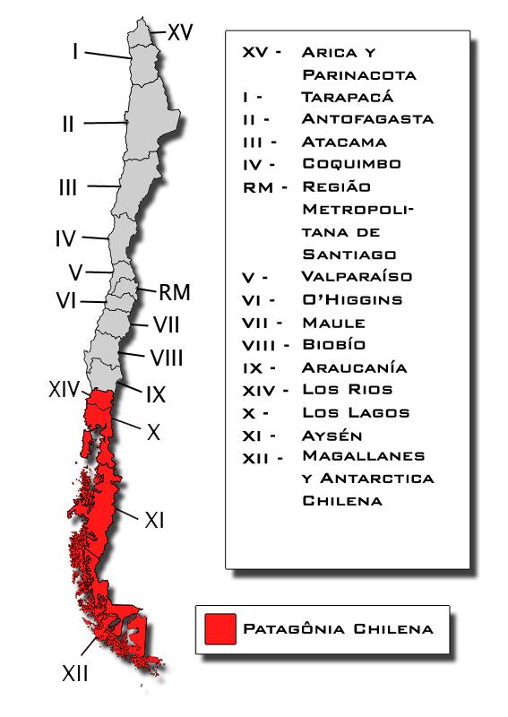 Extensão da Patagônia Chilena (Ilustração: Thiago Gambôa - ViaBr Turismo)