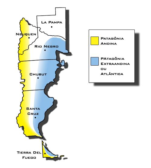 Divisões da Patagônia Argentina (Ilustração: Thiago Gambôa - ViaBr Turismo)