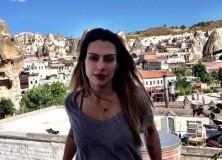 Cleo Pires na Turquia, em gravação para a próxima novela das 21h da Globo.