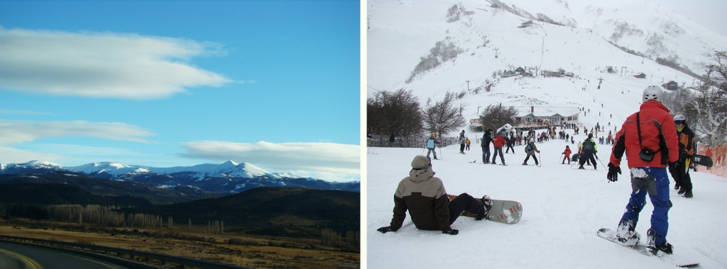 Caminho de Bariloche para Villa Angostura