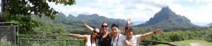 Claudine Blanco, Denise, Marta e Mayumi no Tahiti