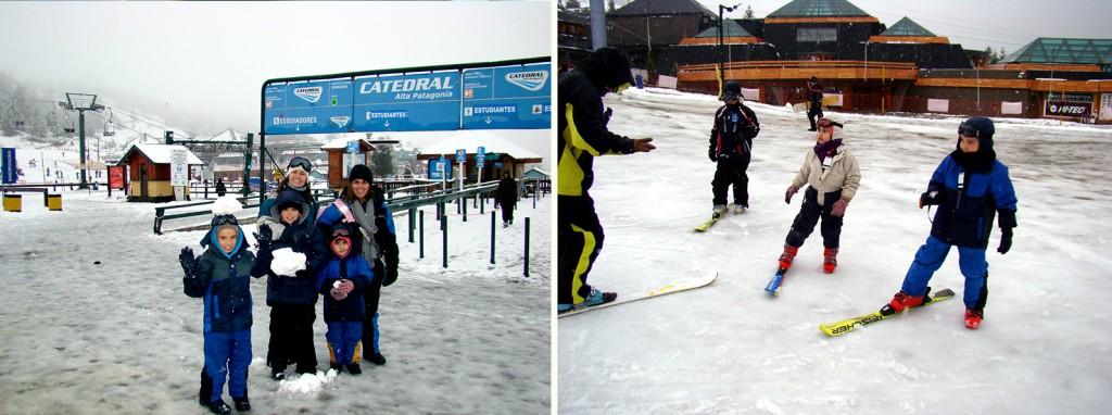 Aulas de ski no Cerro Catedral