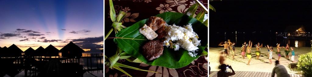 Show, gastronomia e por do sol no Tahiti